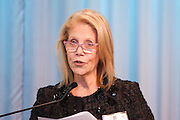 Manhattan Chamber of Commerce's 2012 Awards Breakfast celebrated business excellence by recognizing outstanding leaders. Daryl Roth, Daryl Roth Producations introduces the Cultural Achievement Award. The awards were presented by Well Fargo and hosted at Con Edison's Conference Center on January 31, 2013.