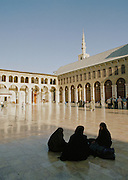 Worshippers at the Umayyad Mosque, the Grand Mosque of Damascus, in Damascus, Syria