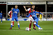Peterborough United midfielder Siriki Dembele (10) on the edge of the box during the EFL Sky Bet League 1 match between Peterborough United and Accrington Stanley at London Road, Peterborough, England on 20 October 2018.