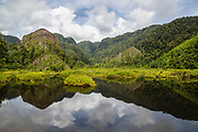Landscape with lake, Batang Toru, Tapanuli District, Sumatra, Indonesia