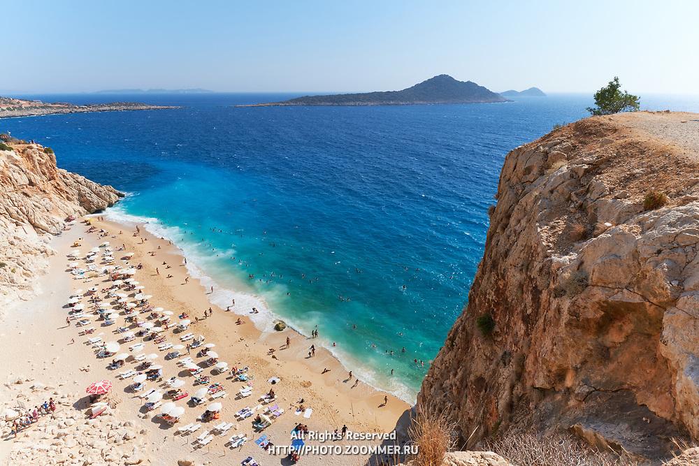 Kaputas beach and turqouise water of Mediterranean sea, Turkey