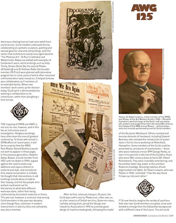 Art Workers Guild meets SPAB Cornerstone Article written by Alan Powers, Photos by Lara Platman.