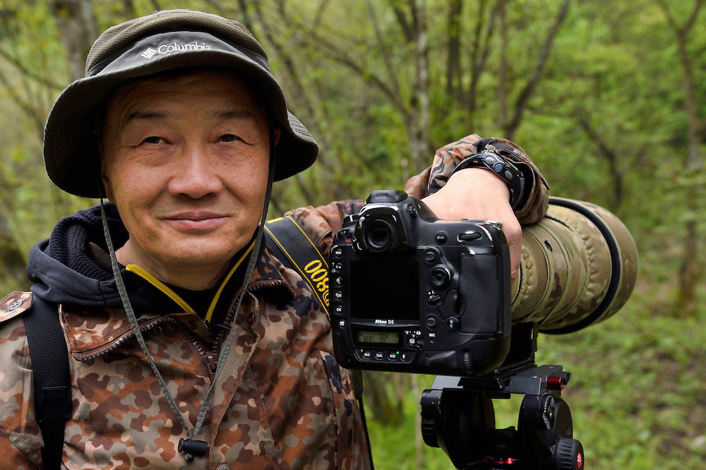 Nature photographer Mr. Xu Yongchun,Tangjiahe National Nature Reserve, NNR, Qingchuan County, Sichuan province, China