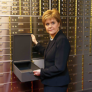 First Minister Nicola Sturgeon officially opened Scotland's first independent safe deposit box service in Glasgow.Picture Robert Perry 19th Feb 2016<br /> <br /> Must credit photo to Robert Perry<br /> <br /> FEE PAYABLE FOR REPRO USE<br /> FEE PAYABLE FOR ALL INTERNET USE<br /> www.robertperry.co.uk<br /> NB -This image is not to be distributed without the prior consent of the copyright holder.<br /> in using this image you agree to abide by terms and conditions as stated in this caption.<br /> All monies payable to Robert Perry<br /> <br /> (PLEASE DO NOT REMOVE THIS CAPTION)<br /> This image is intended for Editorial use (e.g. news). Any commercial or promotional use requires additional clearance. <br /> Copyright 2016 All rights protected.<br /> first use only<br /> contact details<br /> Robert Perry     <br /> 07702 631 477<br /> robertperryphotos@gmail.com<br />         <br /> Robert Perry reserves the right to pursue unauthorised use of this image . If you violate my intellectual property you may be liable for  damages, loss of income, and profits you derive from the use of this image.