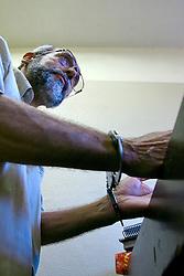 Presídio de Charqueadas, Mário Barreiro, 54, ex-agente secreto do serviço de inteligência do governo do Uruguai está preso por tráfico de armas, falsidade ideológica e formação de quadrilha.  Diz que espionou Jango de 1973 até o dia de sua morte em 6 dezembro de 1976. FOTO: Itamar Aguiar / Preview.com