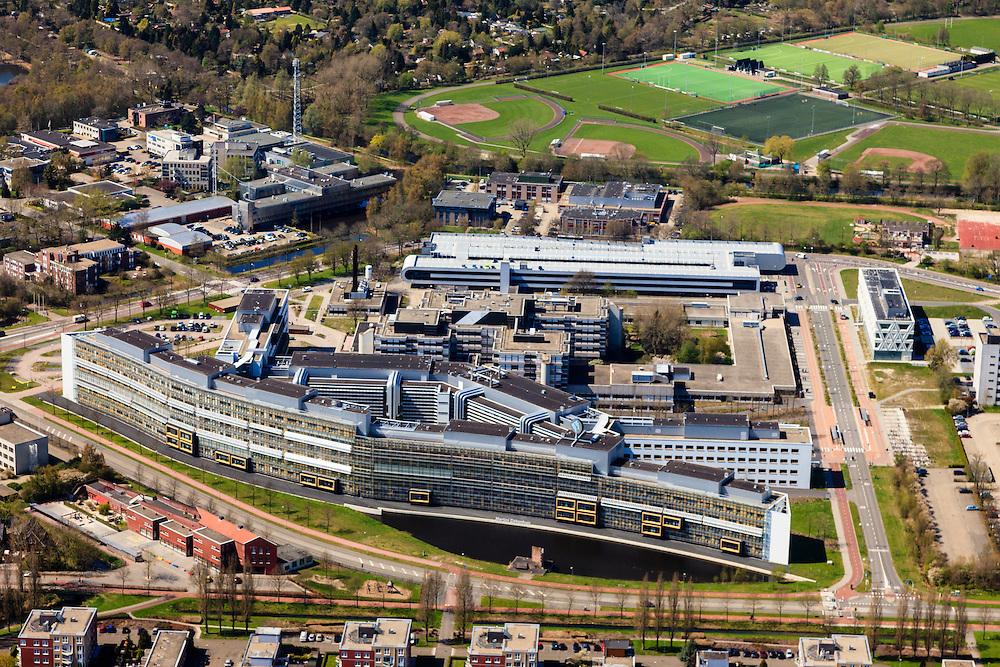 Nederland, Groningen, Groningen, 01-05-2013;<br /> Martini Ziekenhuis<br /> Martini Hospital  in the city of Groningen.<br /> luchtfoto (toeslag op standard tarieven)<br /> aerial photo (additional fee required)<br /> copyright foto/photo Siebe Swart