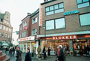 Duitsland, Kleef, 2-11-2002..Winkel van Blokker in Duitse provinciestad. winkelstraat, economie, multinational, koopkracht...Foto: Flip Franssen/Hollandse Hoogte