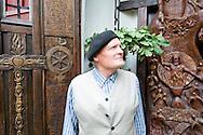 Master sculptor and wood-carver Juozapas Jakstas at his home in Aukstaitija National Park, Lithuania. © Rudolf Abraham.