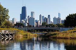 The Chicago Skyline seen from Lincoln Park
