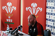 Wales assistant coach Robin McBryde speaks to the press at the Wales Rugby team media session at the Vale Resort, Hensol near Cardiff, South Wales on Tuesday 2nd February2016. The team are preparing for the start of this years RBS Six nations championship.<br /> pic by  Andrew Orchard, Andrew Orchard sports photography.