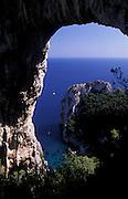 West coast of Capri, Bay of Naples, Italy