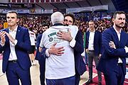 Gianmarco Pozzecco, Giuseppe Cuccurese<br /> Umana Reyer Venezia - Banco di Sardegna Dinamo Sassari<br /> Legabasket LBA Serie A Postemobile 2018-2019 Finale Playoff Gara 7<br /> Sassari, 22/06/2019<br /> Foto L.Canu - Ciamillo-Castoria