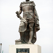 A statue commemorating Francisco Hernández de Córdoba, a Spanish conquistor credited with founding Nicaragua (along with the cities of Granada and Leon), and after whom the Nicaraguan currency is named. The statue stands on Calle La Calzada near the waterfront of Lago Nicaragua.