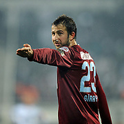 Trabzonspor's Remzi Giray KACAR during their Turkish Superleague Derby match Besiktas between Trabzonspor at the Inonu Stadium at Dolmabahce in Istanbul Turkey on Sunday, 06 March 2011. Photo by TURKPIX
