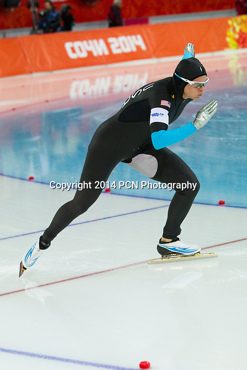 Brittany Bowe (USA) competing in Women's 1500m Speed Skating at the Olympic Winter Games, Sochi 2014