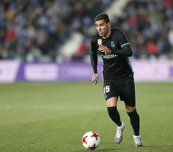 January 18, 2018 - Leganes, Spain - Theo Hernandez of Real Madrid controls the ball during the Spanish Copa del Rey, Quarter Final, First Leg match between Leganes and Real Madrid at Estadio Municipal de Butarque on January 18, 2018 in Leganes, Spain. (Credit Image: © Raddad Jebarah/NurPhoto via ZUMA Press)