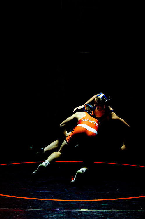 (staff photo by Matt Roth)..Reservoir's Robby Greer defeated River Hill's Jack Noonan 9-8 during the 145 weight match. Reservoir defeated guest River Hill 42-16 Tuesday, January 5, 2010.