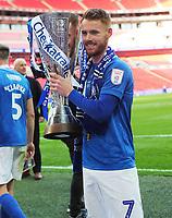 Football - 2019 EFL Checkatrade Trophy Final - Sunderland vs. Portsmouth<br /> <br /> Tom Naylor of Portsmouth with the trophy, at Wembley.<br /> <br /> COLORSPORT/ANDREW COWIE
