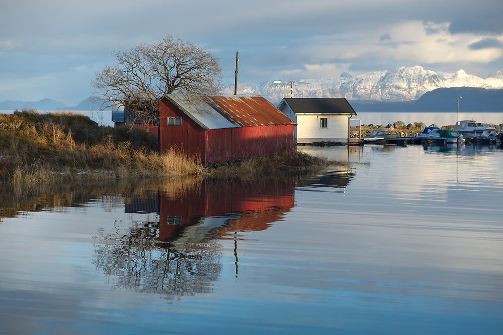 Traditionally, Norwegian houses were painted in red, yellow, or white. The colour the owners chose depended mostly on the family's financial situation, location and profession. <br /> ---------<br /> Red: The red colour was the cheapest to produce. It was created by mixing ochre with cod liver oil (or other vegetable oils or animal oils). As a result, many buildings in farming lands or fishing areas where incomes were lower than average were mostly paint in red.<br /> ---------<br /> Yellow: The yellow colour was a little more expensive than red and was also created by mixing ochre with cod liver oil. <br /> ---------<br /> White: White was the most luxurious of colours since it was the most expensive. In the old days the mineral zinc was needed to create white paint which was very expensive.