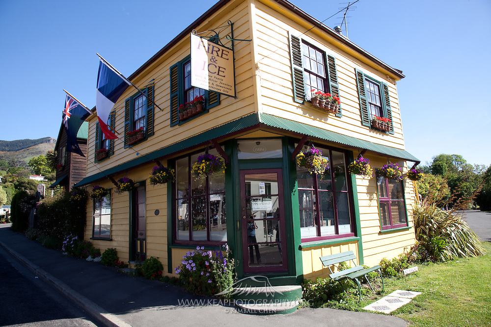 Akaroa township displays its French influence