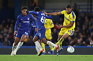 AFC Wimbledon striker Jake Jervis (10) dribbling during the EFL Trophy match between U21 Chelsea and AFC Wimbledon at Stamford Bridge, London, England on 4 December 2018.