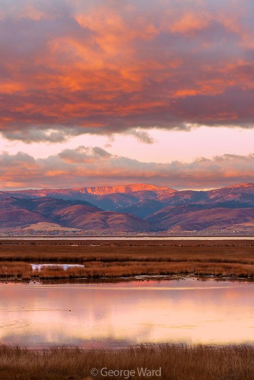 Dawn, Bear Lake National Wildlife Refuge, Bear Lake County, Idaho