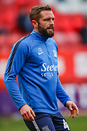 Southend United defender John White (48) warms up prior to the EFL Sky Bet League 1 match between Charlton Athletic and Southend United at The Valley, London, England on 9 February 2019.