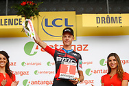 Michael Schar (SUI - BMC) podium during the 105th Tour de France 2018, Stage 13, Bourg d'Oisans - Valence (169,5 km) on July 20th, 2018 - Photo Luca Bettini / BettiniPhoto / ProSportsImages / DPPI