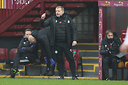 Neil Lennon (Celtic) gestures during the Scottish Premiership match between Motherwell and Celtic at Fir Park, Motherwell, Scotland on 8 November 2020.