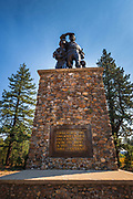 Donner party monument at Donner Memorial State Park, Truckee, California USA