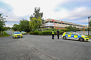 Liverpool, United Kingdom, June 10, 2021: Police arrived at the scene in Pembroke Court, Runcorn on Thursday, June 10, 2021, after the Palestine Action activist group have scaled the roof and seized control of the landing gear factory of APPH in Liverpool. (Photo by Vudi Xhymshiti)