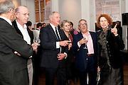SANDY NAIRNE; SIMON MORDANT; ANN MACGREGOR, MCA Sydney cocktails. Brandon rooms. ICA. London. 11 October 2011. <br /> <br />  , -DO NOT ARCHIVE-© Copyright Photograph by Dafydd Jones. 248 Clapham Rd. London SW9 0PZ. Tel 0207 820 0771. www.dafjones.com.