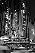 New York City: Radio City Music Hall Decorated for Christmas