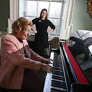 NO REPRO FEE 9/11/2020 Veronica Dunne, doyenne of Irish opera, and Tara Erraught, Irish Mezzo soprano and a member of the international jury for the Veronica Dunne Bursary Competition at MoLi - Museum of Literature Ireland this past weekend. Six young singers were offered bursaries to take part in a bespoke programme of vocal and technical training, to help futher their singing careers. It was created by Veronica Dunne and is funded by the Department of Media, Tourism, Arts, Culture, Sport and the Gaeltacht.  PHOTO: Mark Stedman