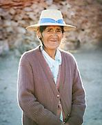 Portrait of a farmer woman from Turipite, Atacama Desert, Chile, South America