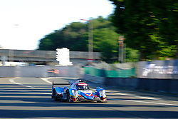 June 18, 2017 - Le Mans, Sarthe, France - Vaillante Rebellion Oreca 07-Gibson rider NELSON PIQUET (BRA) in action during the race of the 24 hours of Le Mans on the Le Mans Circuit - France (Credit Image: © Pierre Stevenin via ZUMA Wire)
