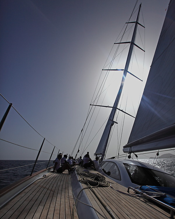 Top images from 2010. S/Y Sojana racing in the 2010 Antigua Race Week in Antigua.