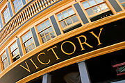 Detail of Lord Horatio Nelson's ship, HMS Victory, Portsmouth, UK
