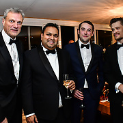 Michael Gelard, Kevin Rochay and guest attend Rochay High Society Soiree with Jovoy at Westbury Mayfair grafton suite on 21 November 2019, London, UK.