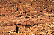 The Nabatean tombs of Petra, Jordan, were taken over by the Romans as they lay on the old frankincense trade routes.The Royal Tombs.