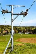 18-09-2015: Golf & Spa Resort Konopiste in Benesov, Tsjechië.<br /> Foto: Skilift langs de driving range