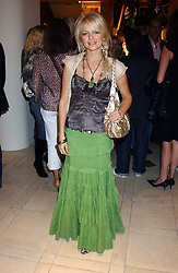 """HANNAH SANDLING at a party hosted by Christopher Bailey to celebrate the launch of """"The Snippy World of New Yorker Fashion Artist Michael Roberts"""" held at Burberry, 21-23 New Bond Street, London on 20th September 2005.<br /><br />NON EXCLUSIVE - WORLD RIGHTS"""