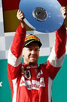 VETTEL sebastian (ger) ferrari sf15t ambiance portrait podium ambiance   during 2015 Formula 1 championship at Melbourne, Australia Grand Prix, from March 13th to 15th. Photo DPPI / Frederic Le Floch.