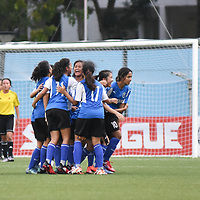 Jalan Besar Stadium, Tuesday, May 9, 2017 — As the penalty shoot-out loomed, Victoria Junior College (VJC) goalkeeper Hannah Lim (VJC #1) thought she had done all she could against Meridian Junior College (MJC) in the National A Division Football Championship final. Story: https://www.redsports.sg/2017/05/10/national-a-div-football-vjc-mjc/