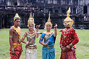 Apsara mythical dancers at Angkor Wat, Cambodia