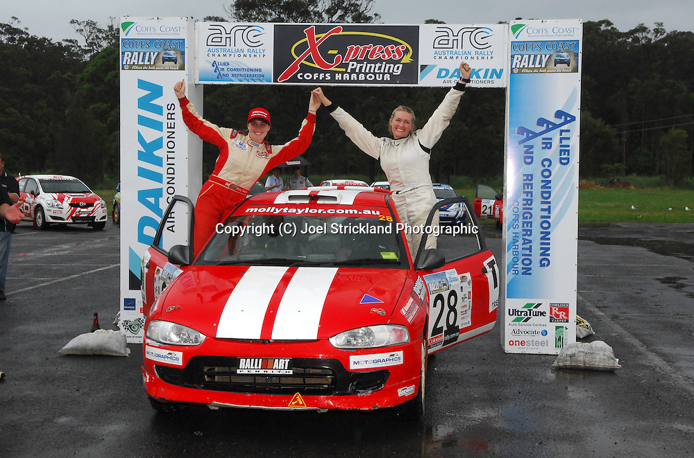 Molly Taylor & Samantha Stevens.Motorsport-Rally/2008 Coffs Coast Rally.Heat 2.Coffs Harbour, NSW.16th of November 2008.(C) Joel Strickland Photographics