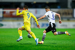 Dario Kolobaric of Domzale vs Darko Misic of Koper during football match between NK Domzale and NK Koper in 34th Round of Prva liga Telekom Slovenije 2020/21, on May 16, 2021 in Sports park Domzale, Domzale, Slovenia. Photo by Vid Ponikvar / Sportida