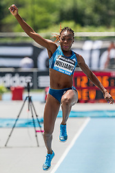Kimberly Williams, Jamaica, wins women's triple jump, adidas Grand Prix Diamond League track and field meet