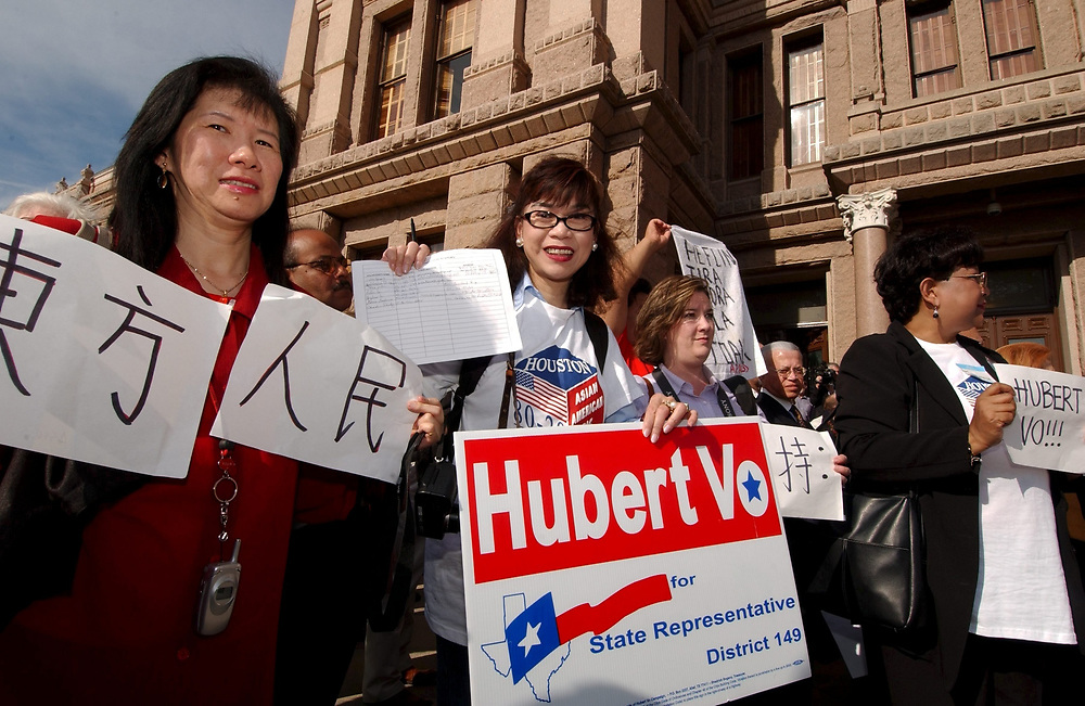 Austin, TX 11JAN05:  Rally for Houston businessman Hubert Vo who took his seat in the Texas House of Representatives as the first Vietnamese-American ever to hold a Texas House seat.  Vo, a Democrat, beat a longtime Republican member in a race decided by less than 100 votes.  ©Bob Daemmrich /