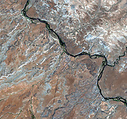 The place in the United States where four states come together: the four corners area in the western United States. The states of Utah, Colorado, Arizona, and New Mexico share a common point. June 11, 2001.